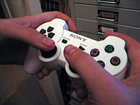 The DualShock 3 in my hands