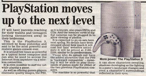Daily Mail on PS3