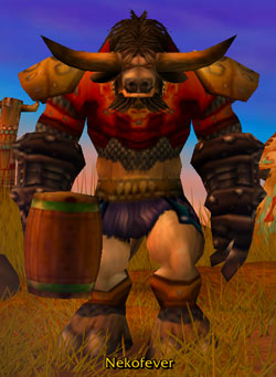 Nekofever - Tauren Warrior
