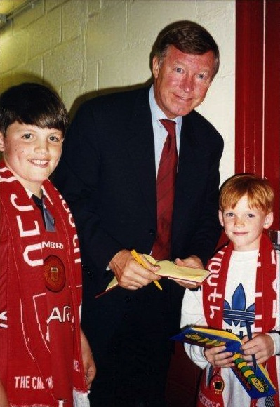 Me and my brother with Alex Ferguson at Dean Court, circa 1996.