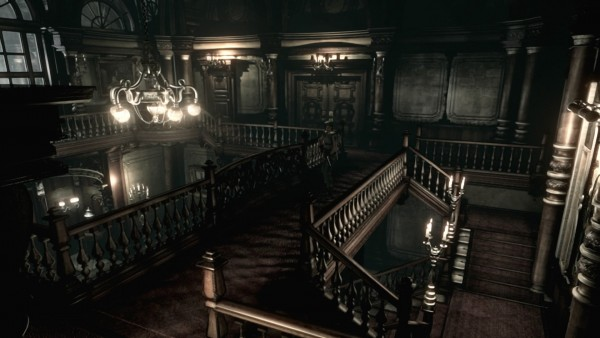 Resident Evil HD: The mansion lobby