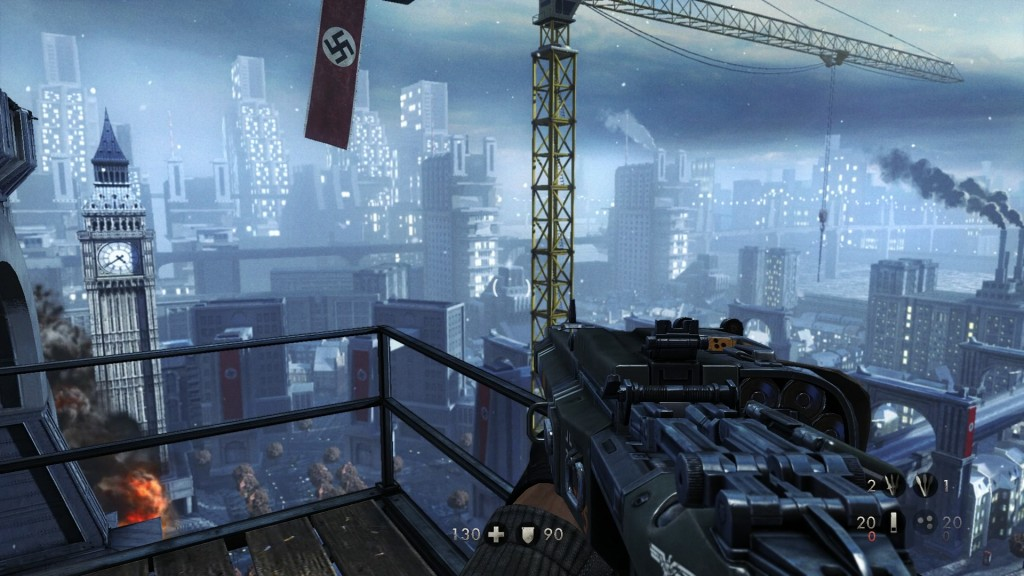 Visiting Nazi London in Wolfenstein: The New Order.
