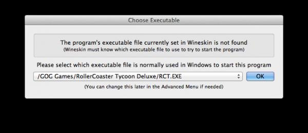 Wineskin executable