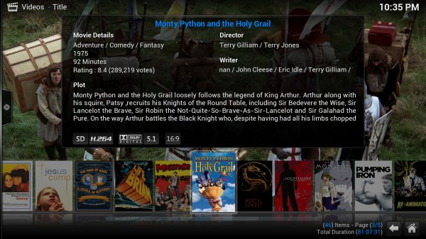 XBMC movie library